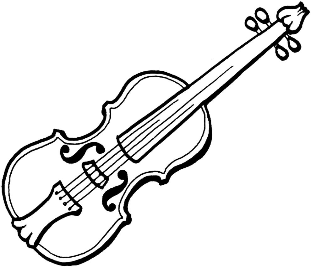 disegno di Violino a colori