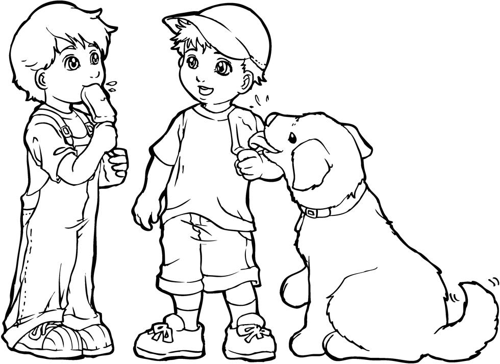 Disegni da colorare dei bimbi migliori pagine da - Cane da colorare le pagine libero ...