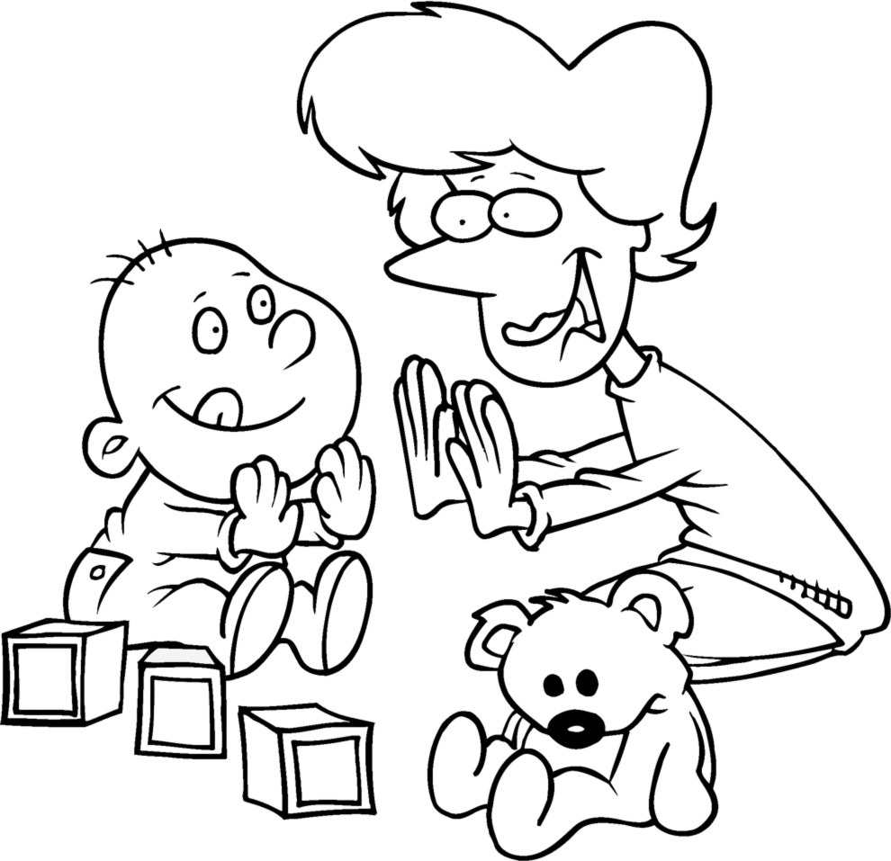 Stampa Disegno Di Giochi Per Bimbi Da Colorare