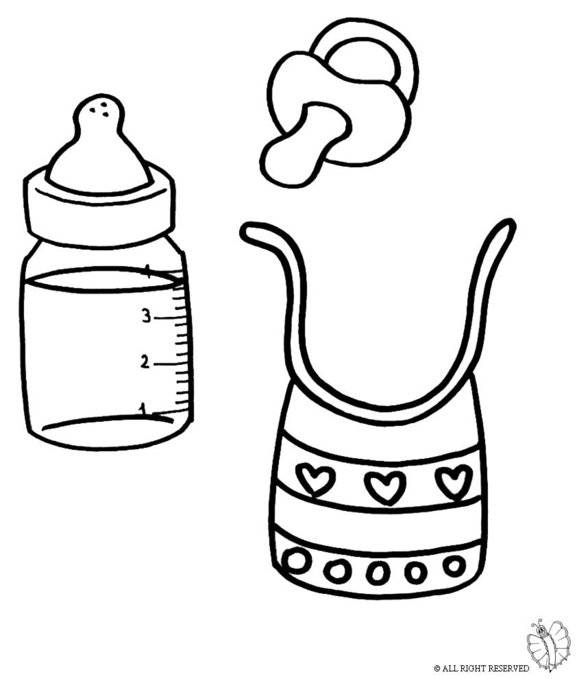 stampa disegno di kit per neonato da colorare