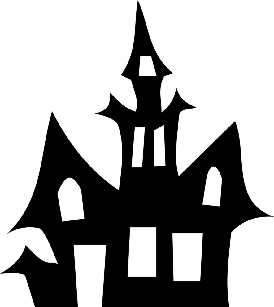 Stampa disegno di la casa stregata da colorare for Disegni di casa alta