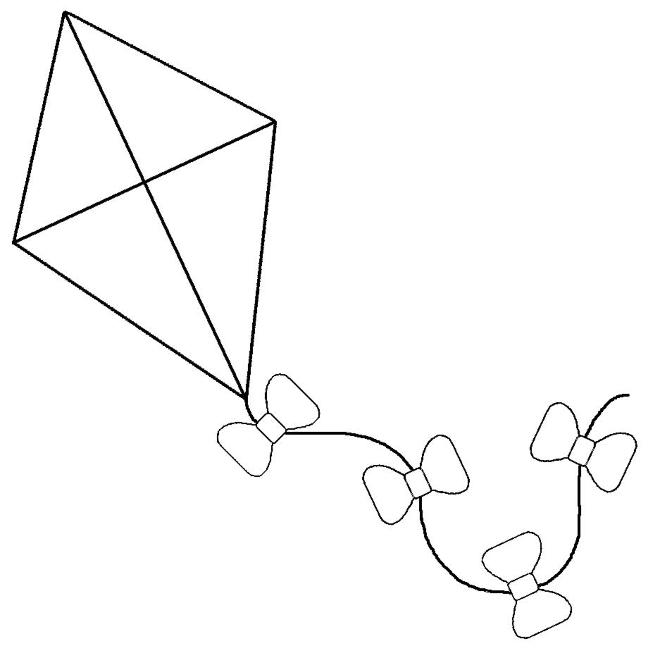 disegno di Aquilone da colorare