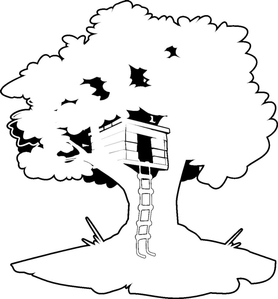 disegno di Casa sull'Albero da colorare