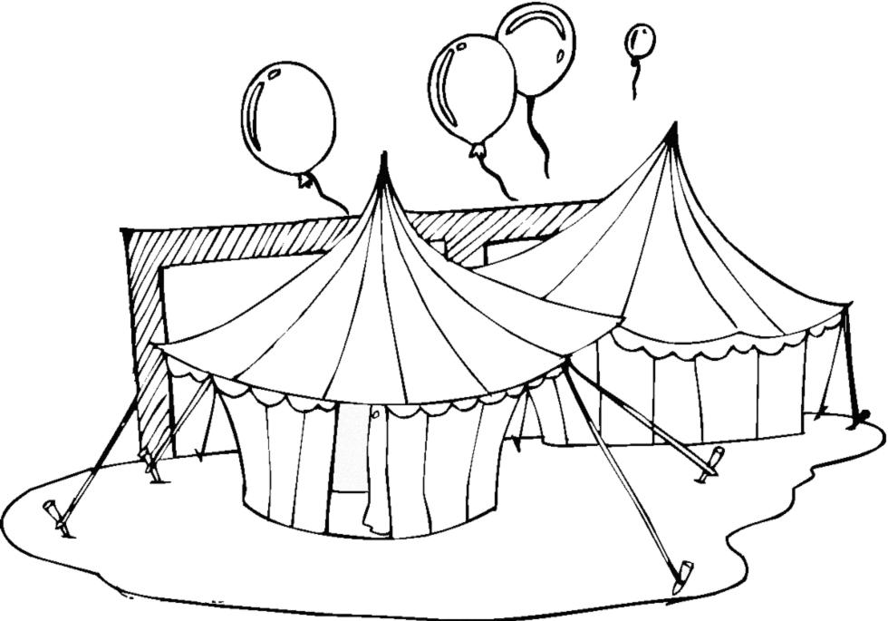 stampa disegno di il circo da colorare