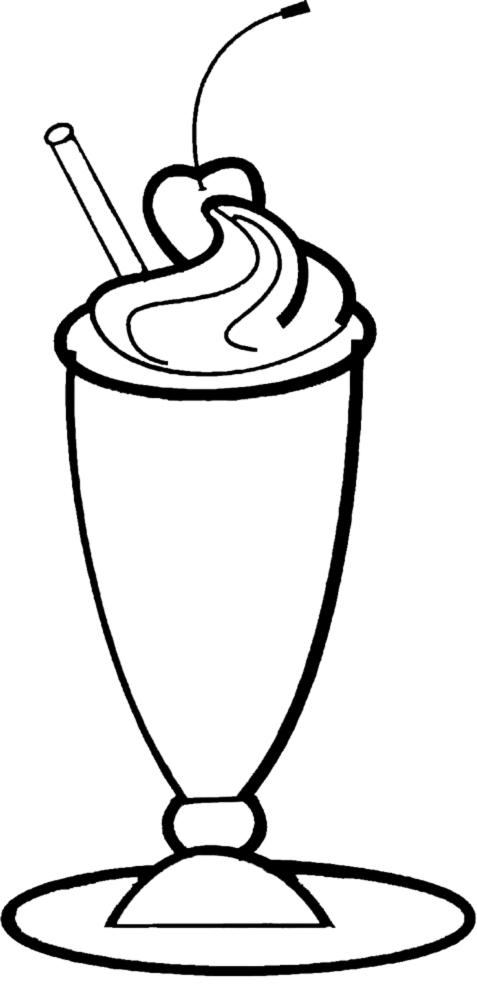 disegno di Coppa Gelato Frappè da colorare