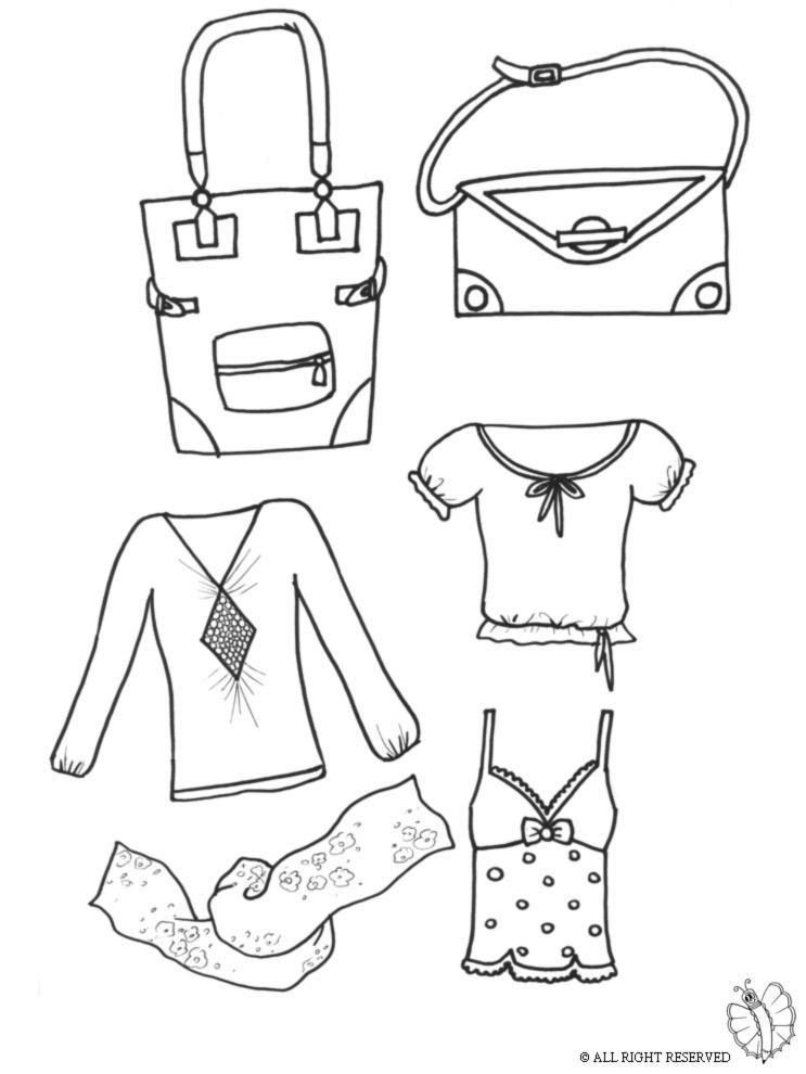 Stampa disegno di abiti da donna da colorare - Fogli da disegno per bambini ...