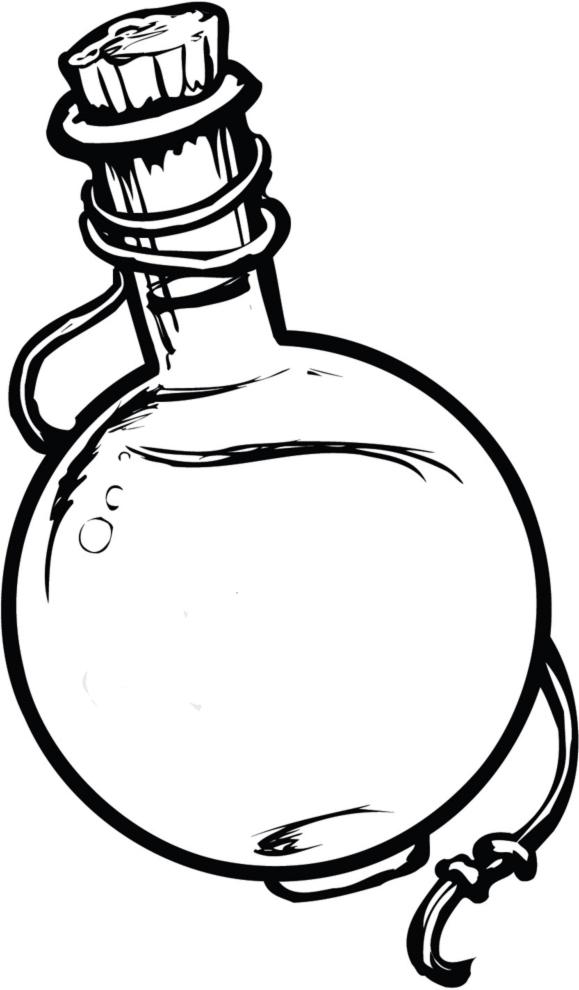 Stampa Disegno Di Ampolla Con Liquido Magico Da Colorare