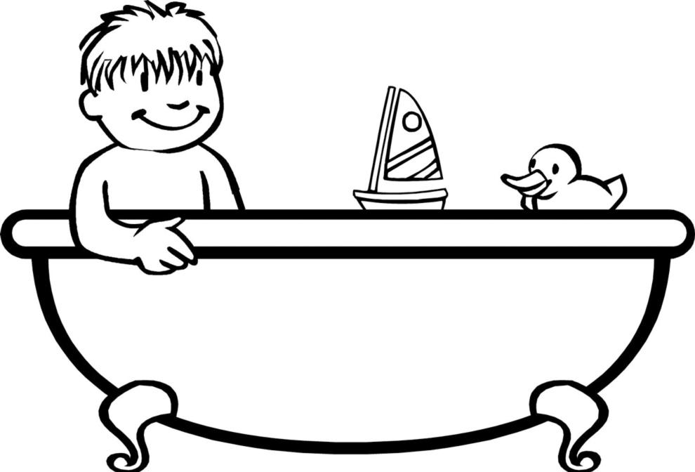 Stampa disegno di bagnetto in vasca da colorare - Vasca da bagno bambini ...