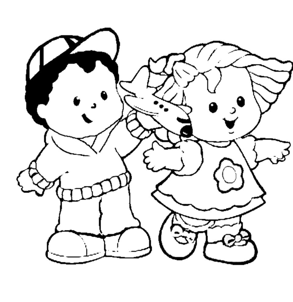 Stampa disegno di bambini dell 39 asilo da colorare for Immagini di disegni per bambini