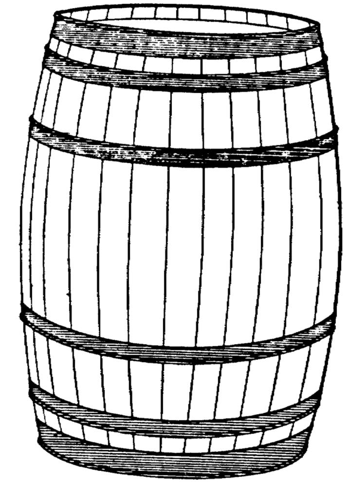 Бочка картинка нарисованная