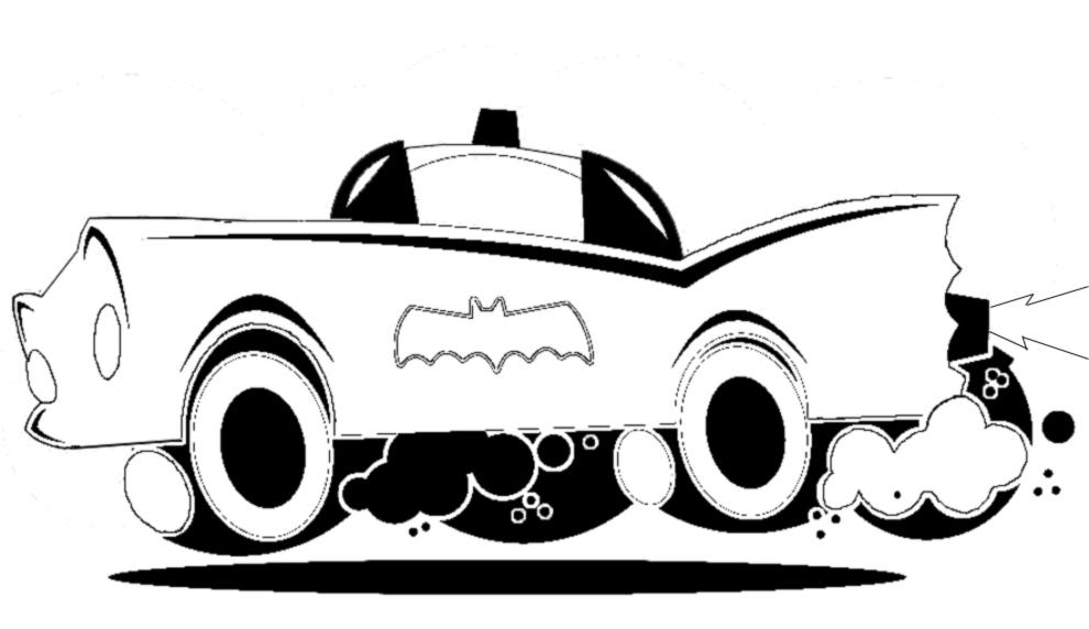 Stampa disegno di batmobile da colorare for Disegni da colorare e stampare di cars