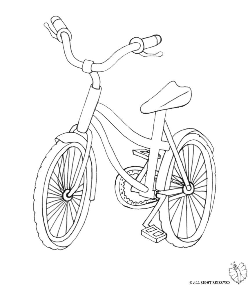 Stampa disegno di bici da colorare - Disegno di immagini di veicoli ...