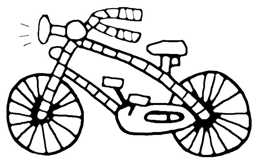 abbastanza Stampa disegno di Bicicletta da colorare DZ38