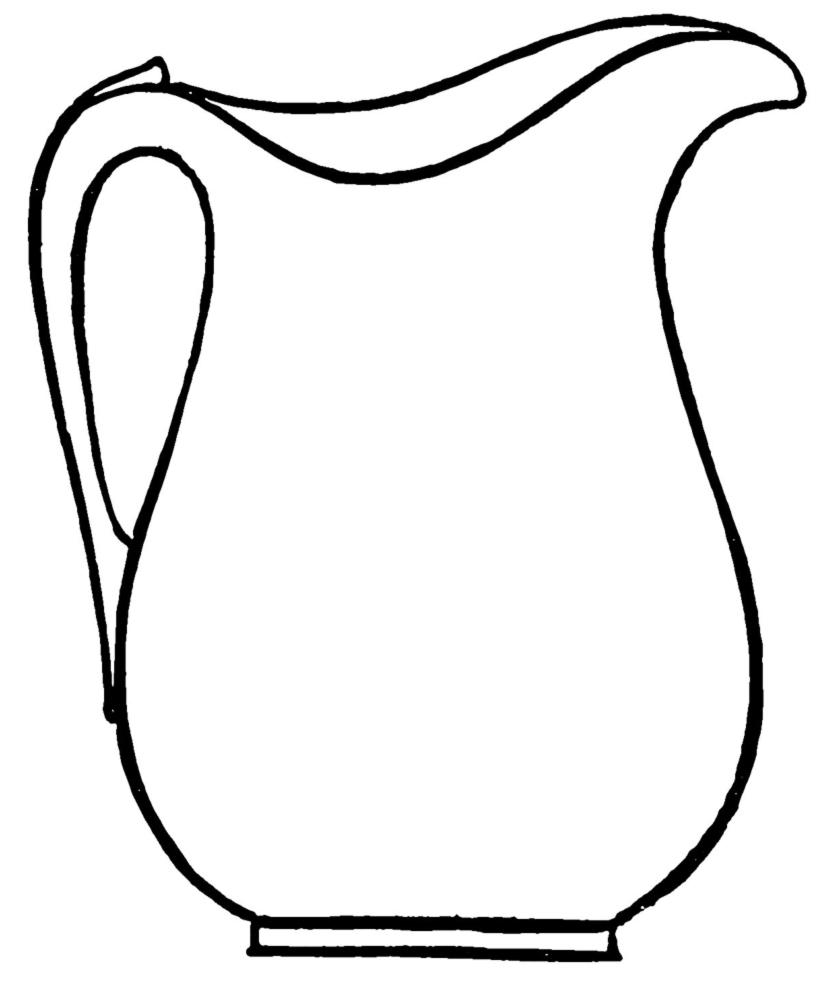 Stampa disegno di brocca da colorare for Immagini da dipingere su vetro
