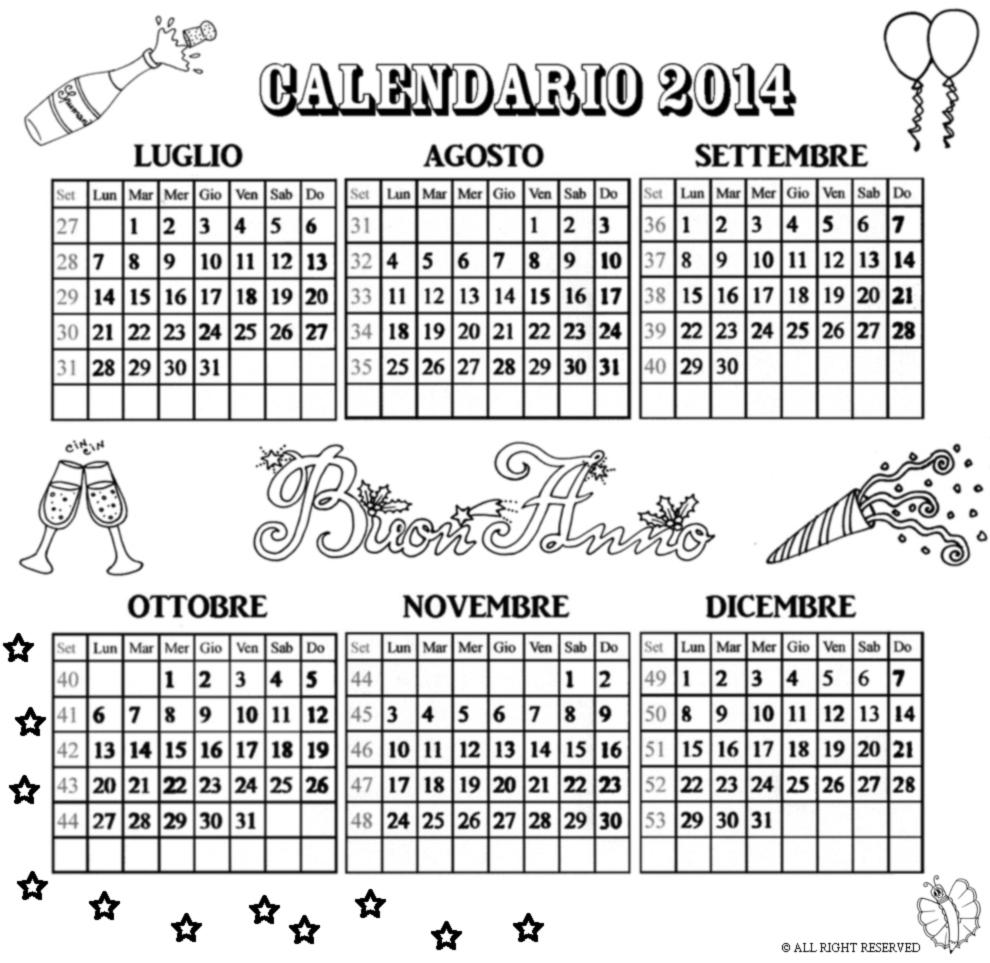 calendario a buen paso 2014