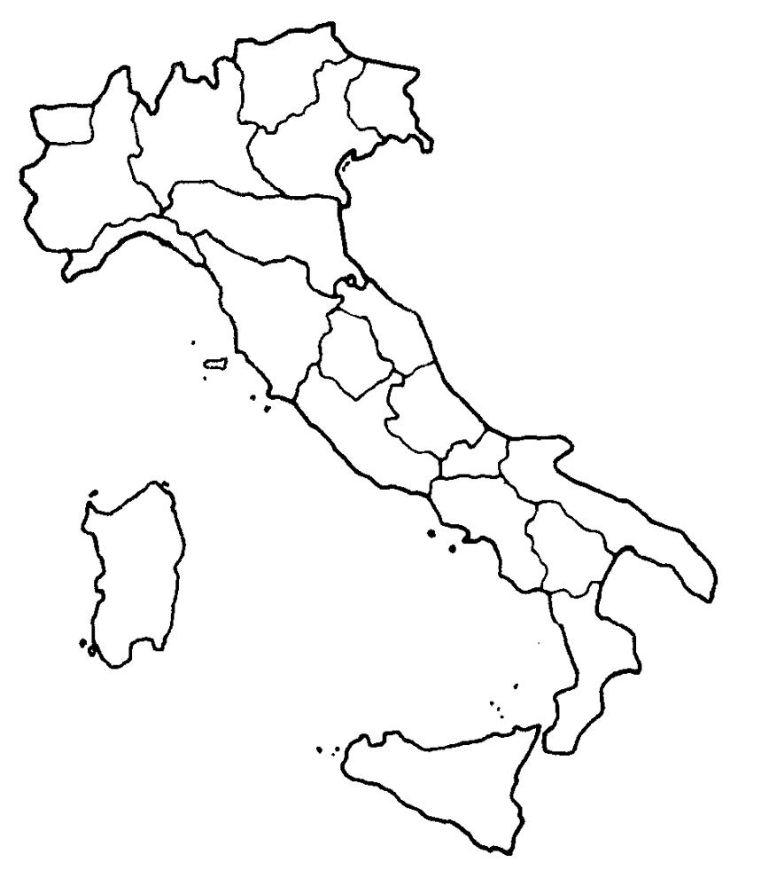 disegno di Cartina Italia da colorare