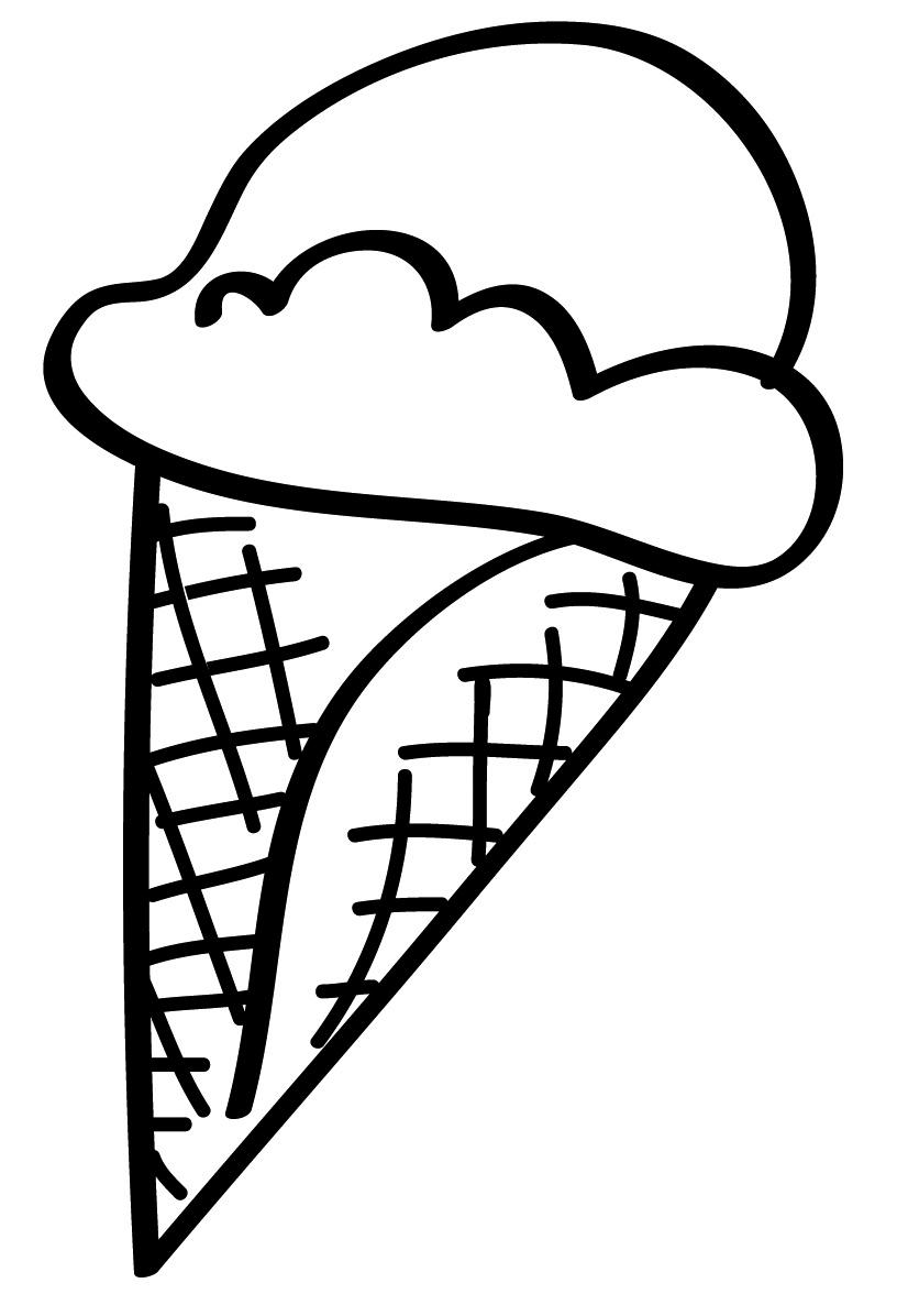 Stampa disegno di cono gelato da colorare for Disegno giardino da colorare
