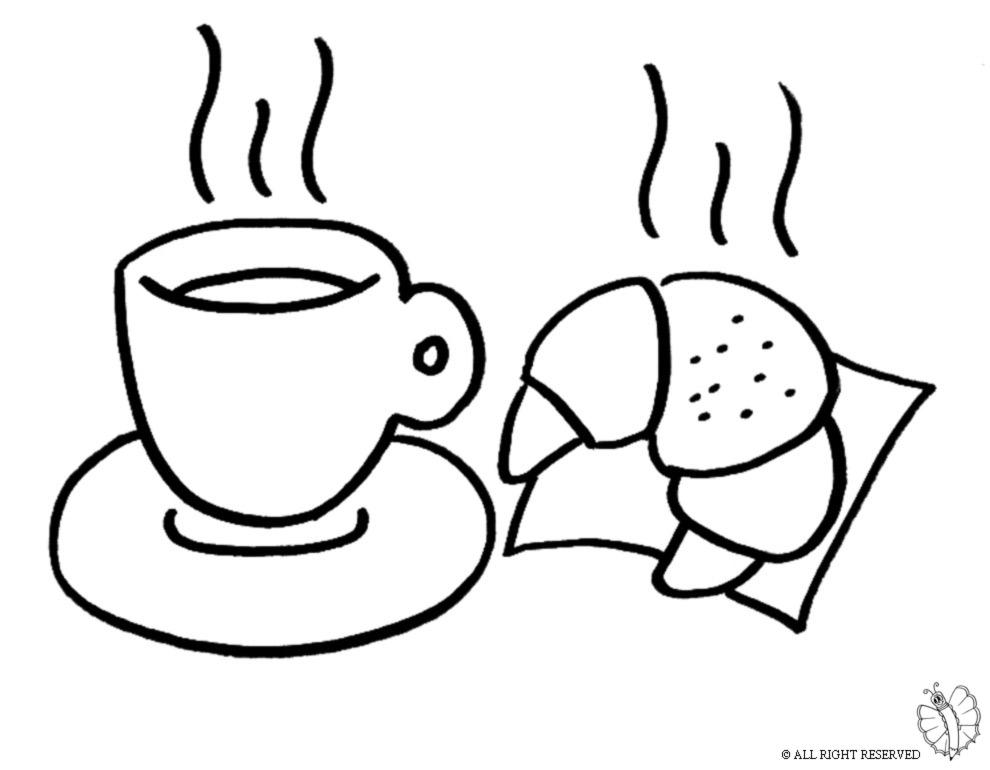Stampa disegno di cornetto e caff da colorare for Costruzione di disegni online