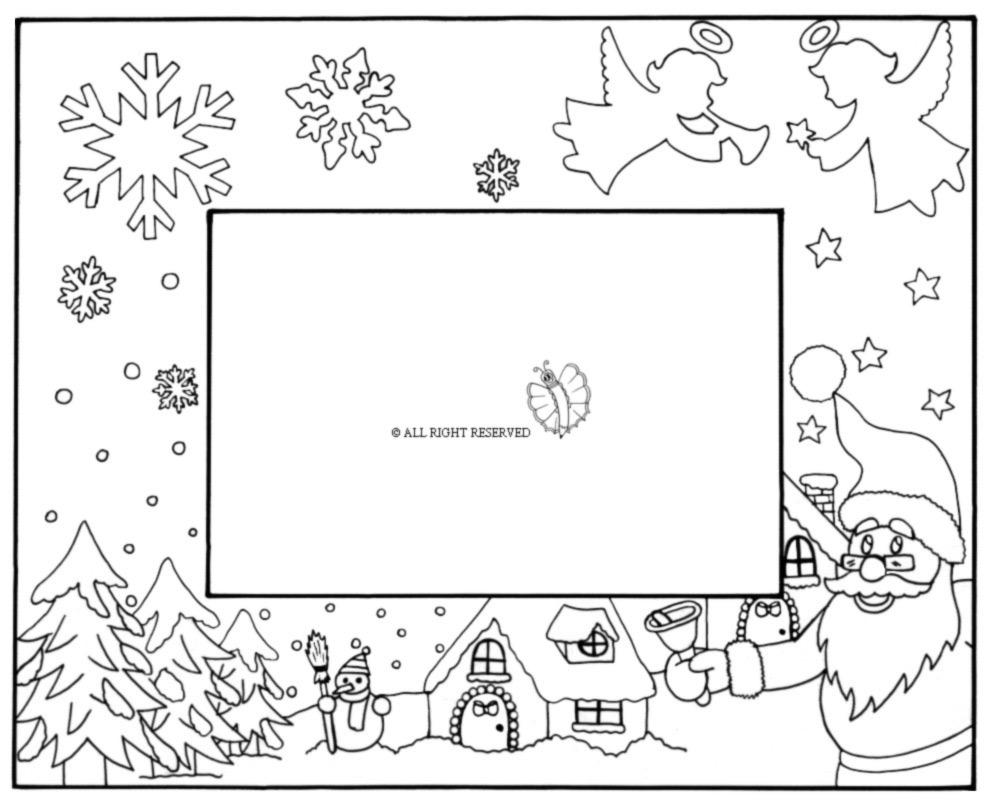 disegno di Cornice di Natale Orizzontale da colorare