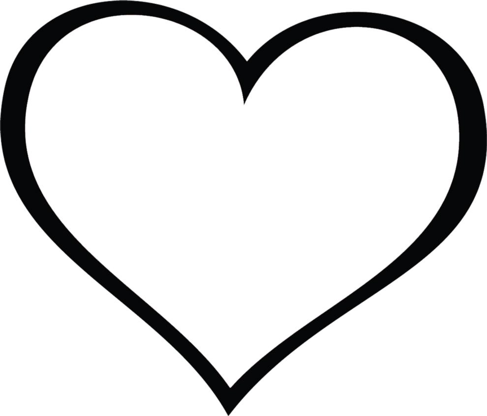 Disegno di cuore gigante da colorare