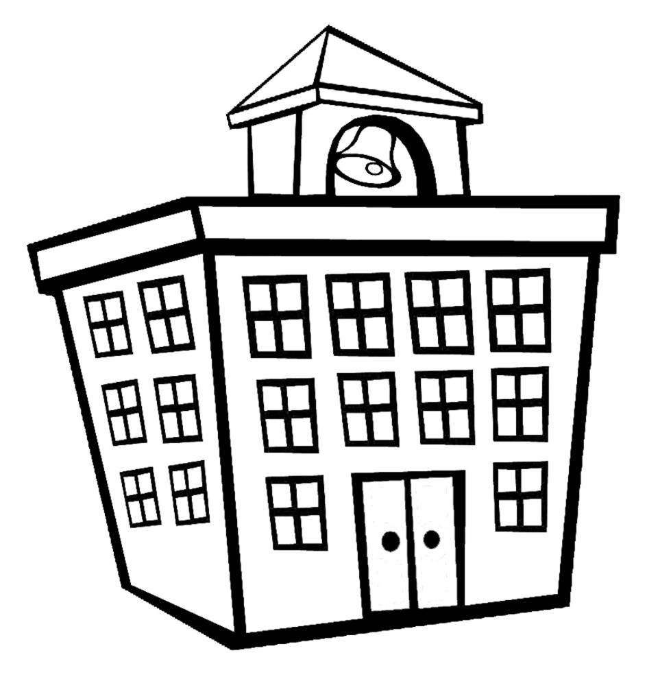 Stampa disegno di edificio scolastico da colorare for Disegni di case spagnole