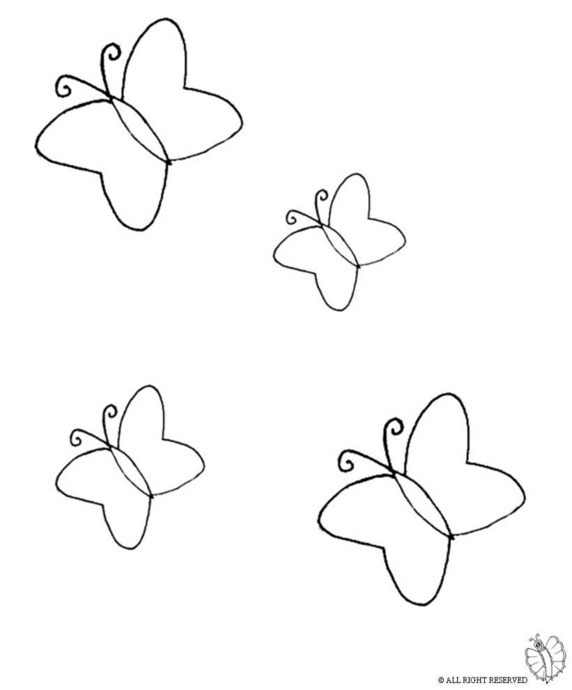 Stampa Disegno Di Farfalle Da Colorare