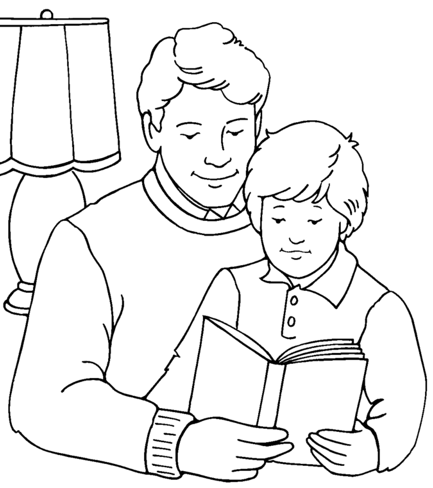 Disegni per la festa del pap da colorare e stampare for Immagini festa del papa da colorare