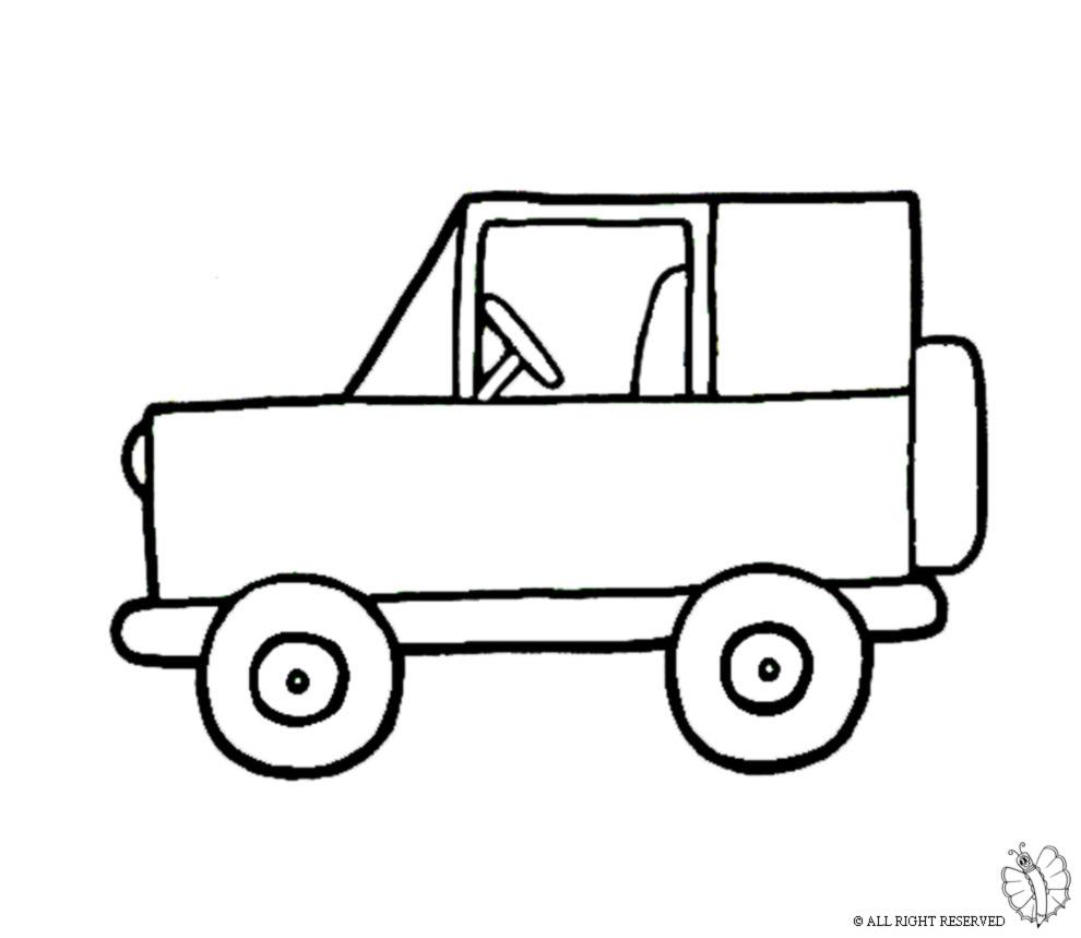 Stampa disegno di jeep fuoristrada da colorare - Profili auto per colorare ...