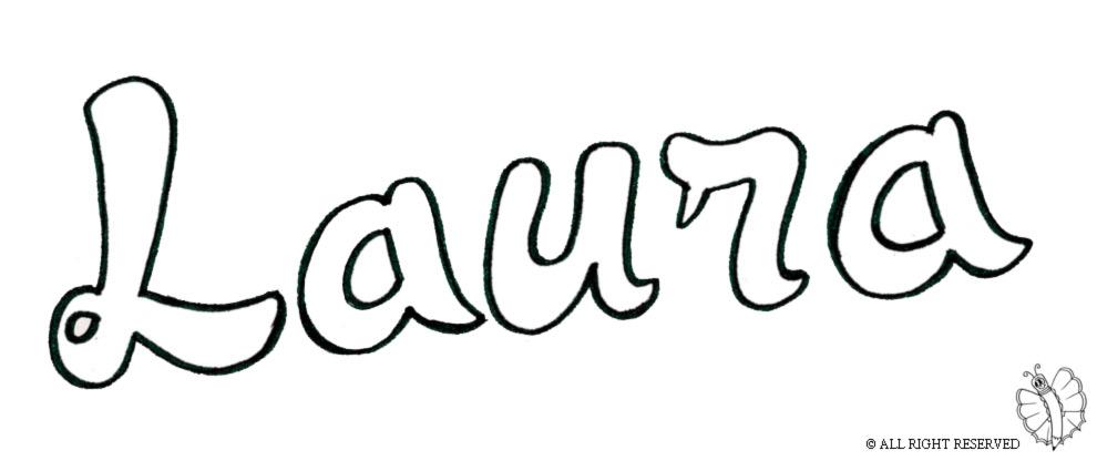 disegno di Laura da colorare