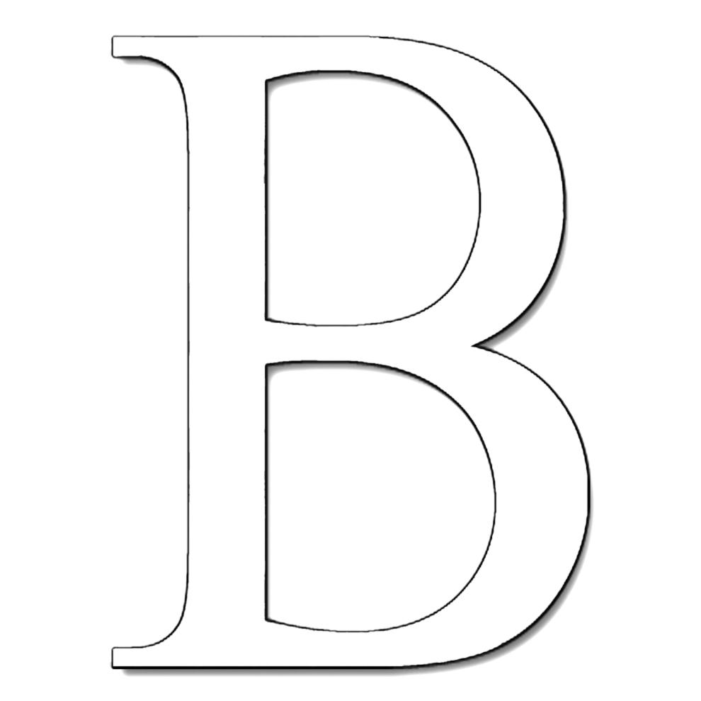 Lettere Alfabeto Da Copiare stampa disegno di lettera b da colorare