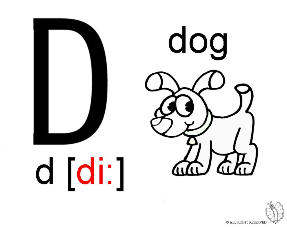 Stampa disegno di lettera d alfabeto inglese da colorare