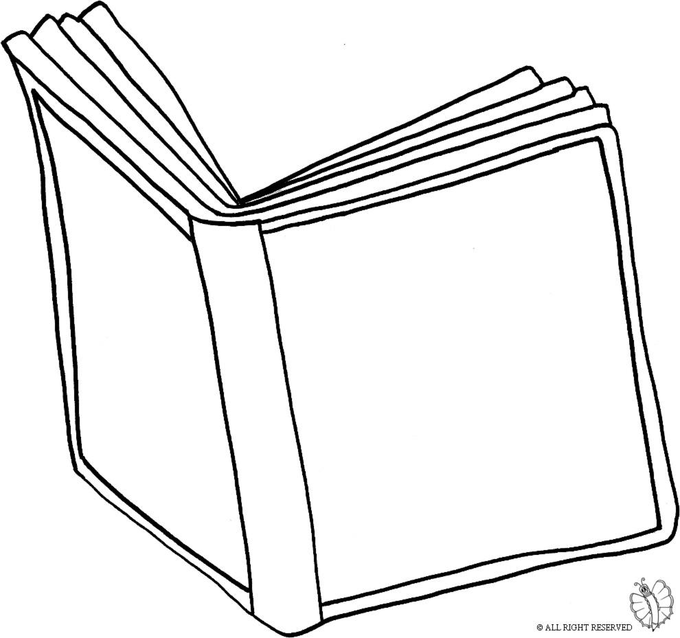 Stampa disegno di libro aperto da colorare - Libro da colorare elefante libro ...