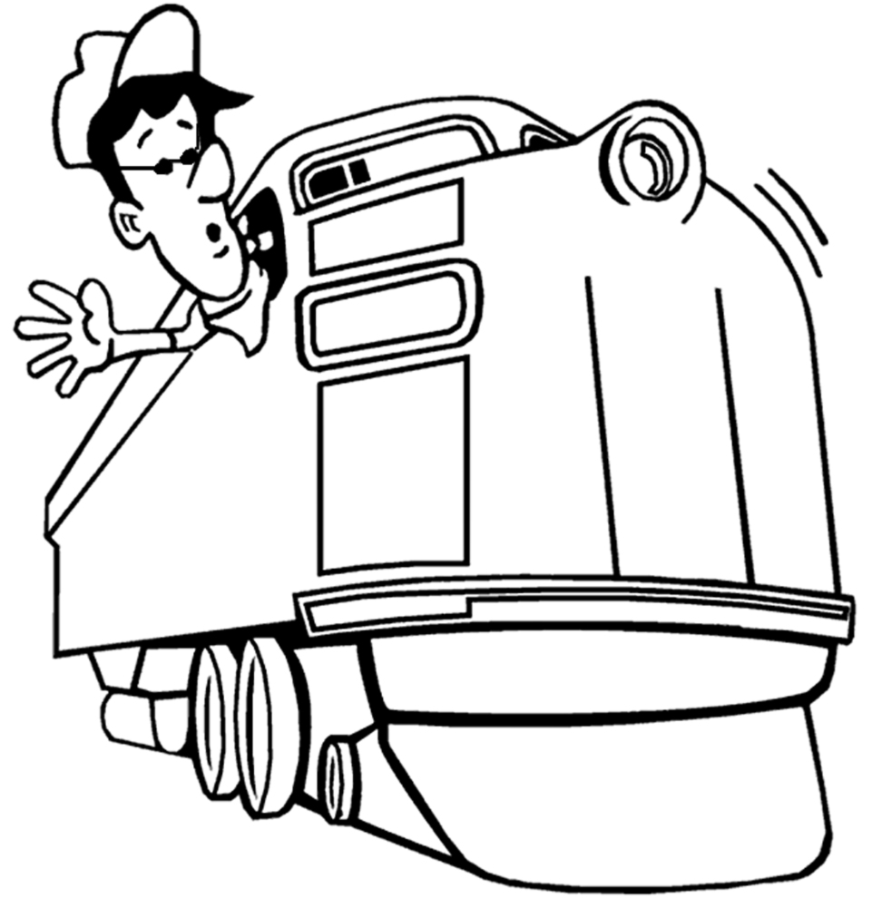 disegno di Il Macchinista del Treno da colorare
