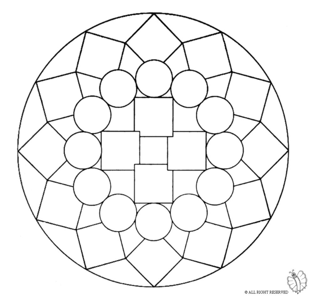 Stampa Disegno Di Mandala 1 Da Colorare