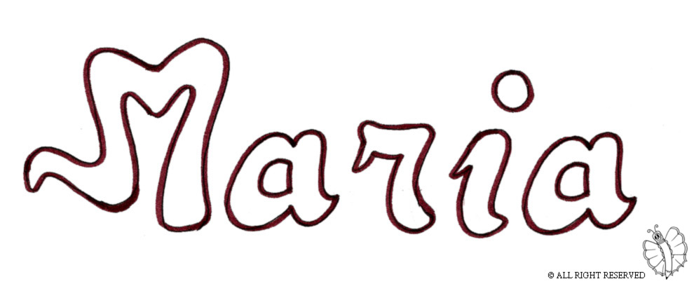 disegno di Maria da colorare