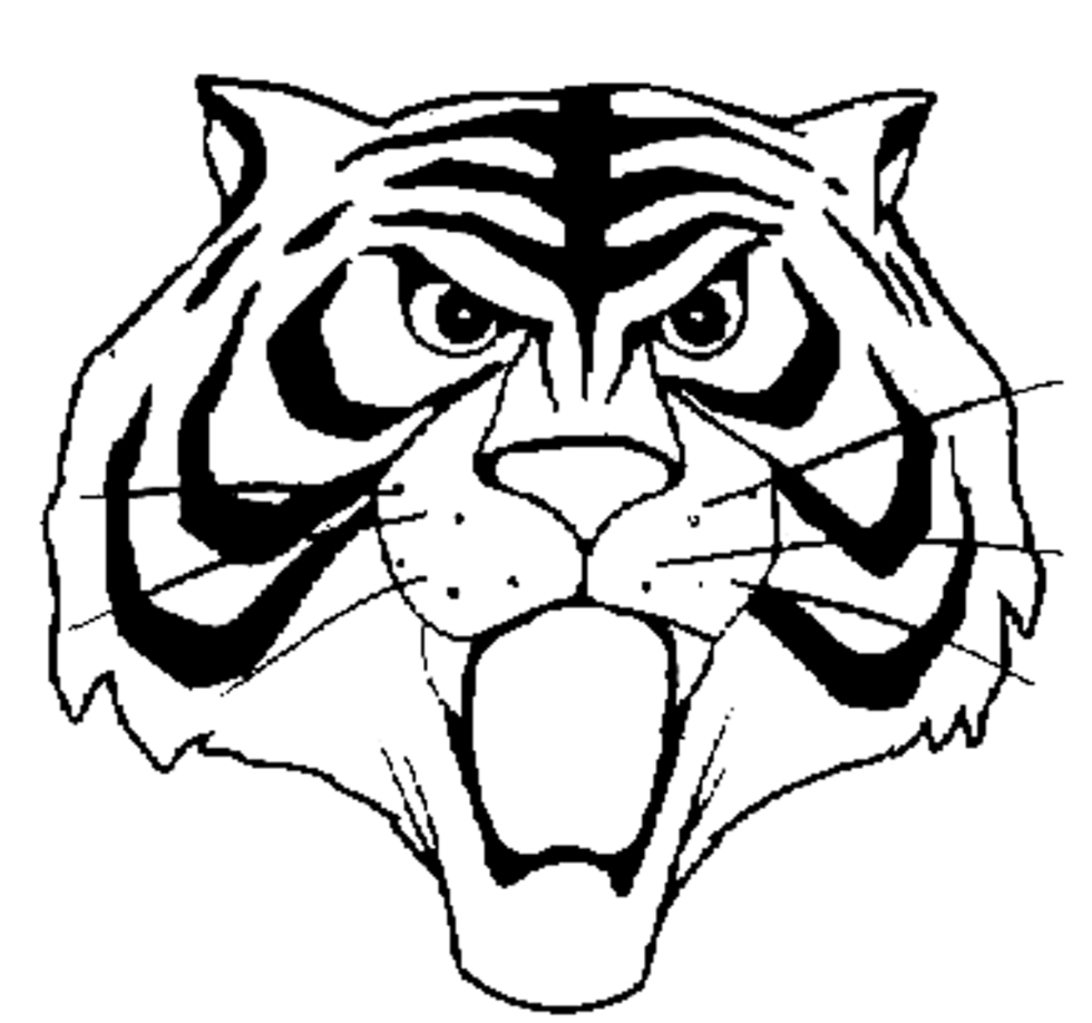 Stampa disegno di maschera uomo tigre da colorare for Cose con la g