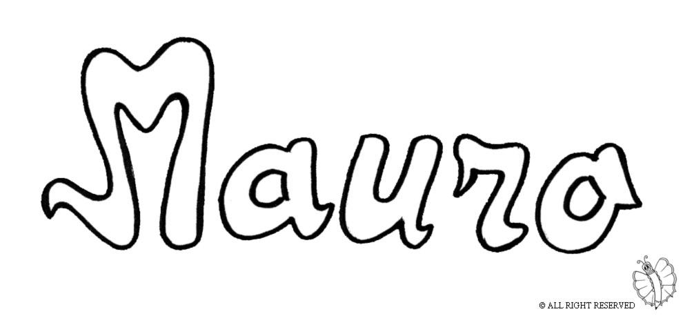 disegno di Mauro da colorare