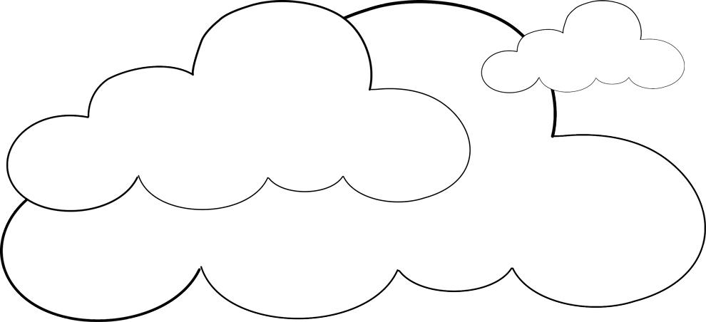 Stampa disegno di nuvole da colorare for Sole disegno da colorare