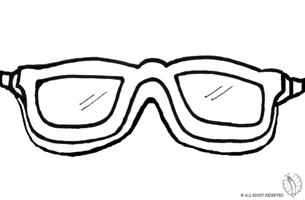 disegno di Occhialini Mare da colorare