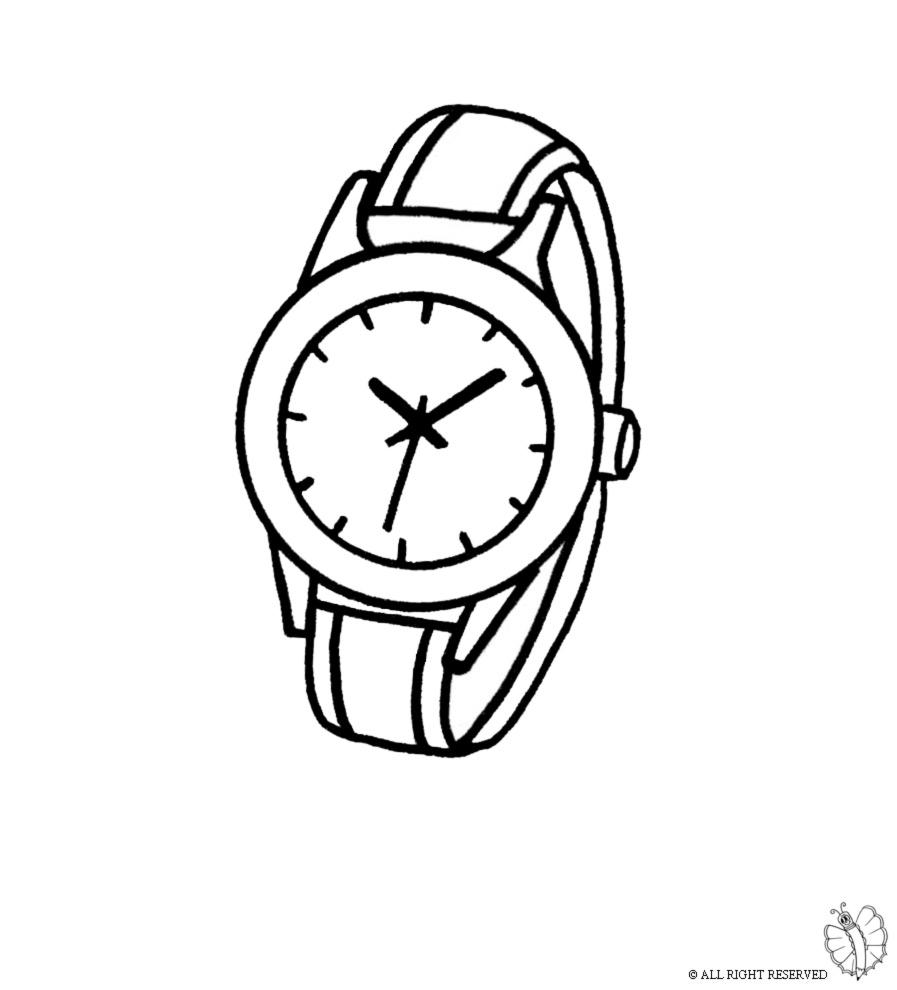 Stampa disegno di orologio da polso da colorare for Immagini orologi da polso