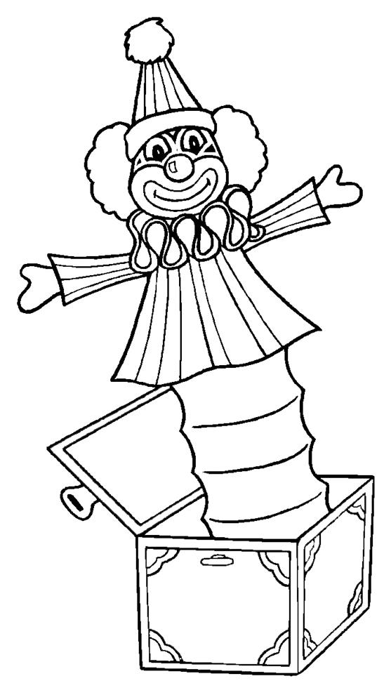 Stampa disegno di pagliaccio nella scatola da colorare for Disegno pagliaccio da colorare