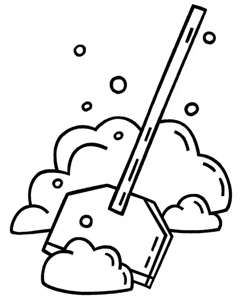 disegno di Spalare la Neve da colorare