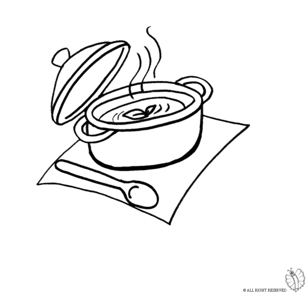 Pin disegno di pentola a colori per bambini gratis on for Cucinare x bambini