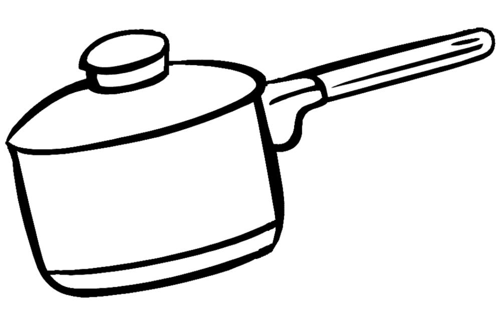 Stampa disegno di pentola per cucinare da colorare - Cose semplici da cucinare ...