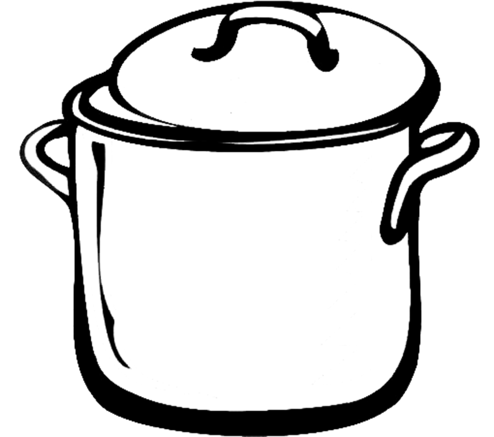 pots coloring pages | Cooking Pot Coloring Coloring Pages