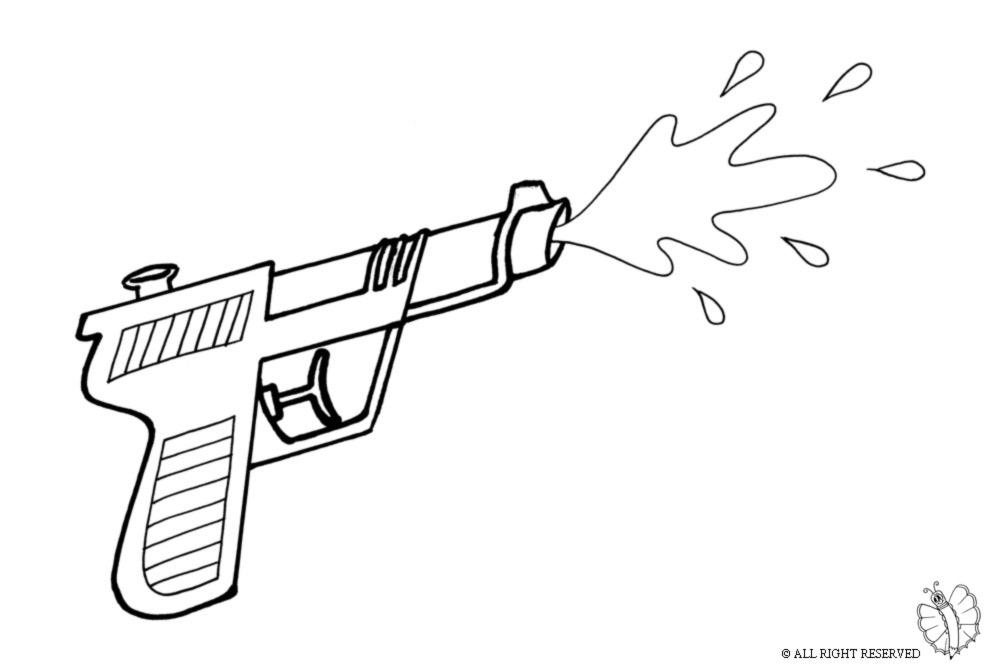 disegno di Pistola ad Acqua da colorare