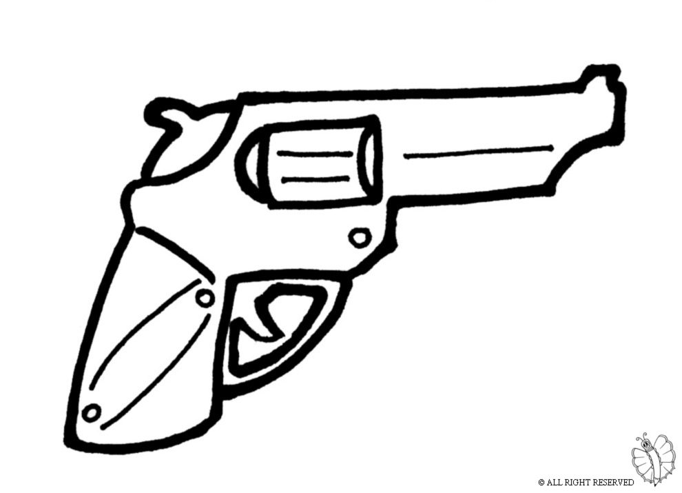 Stampa disegno di pistola revolver da colorare - Cowboy foglio da colorare ...