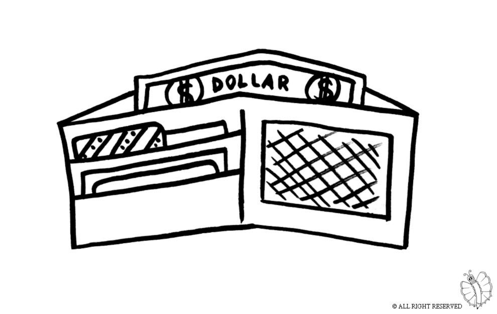 economia do municipio de coloring pages | Stampa disegno di Portafogli da colorare