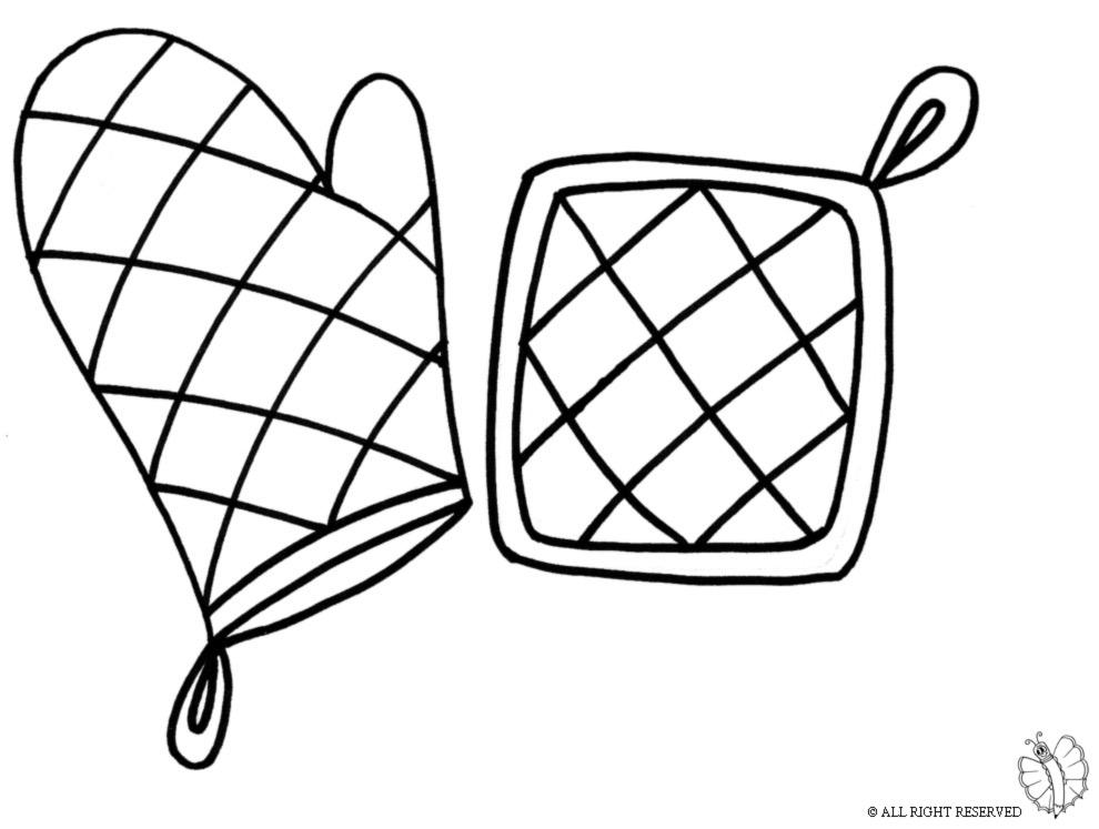 disegno di Presine da Cucina da colorare