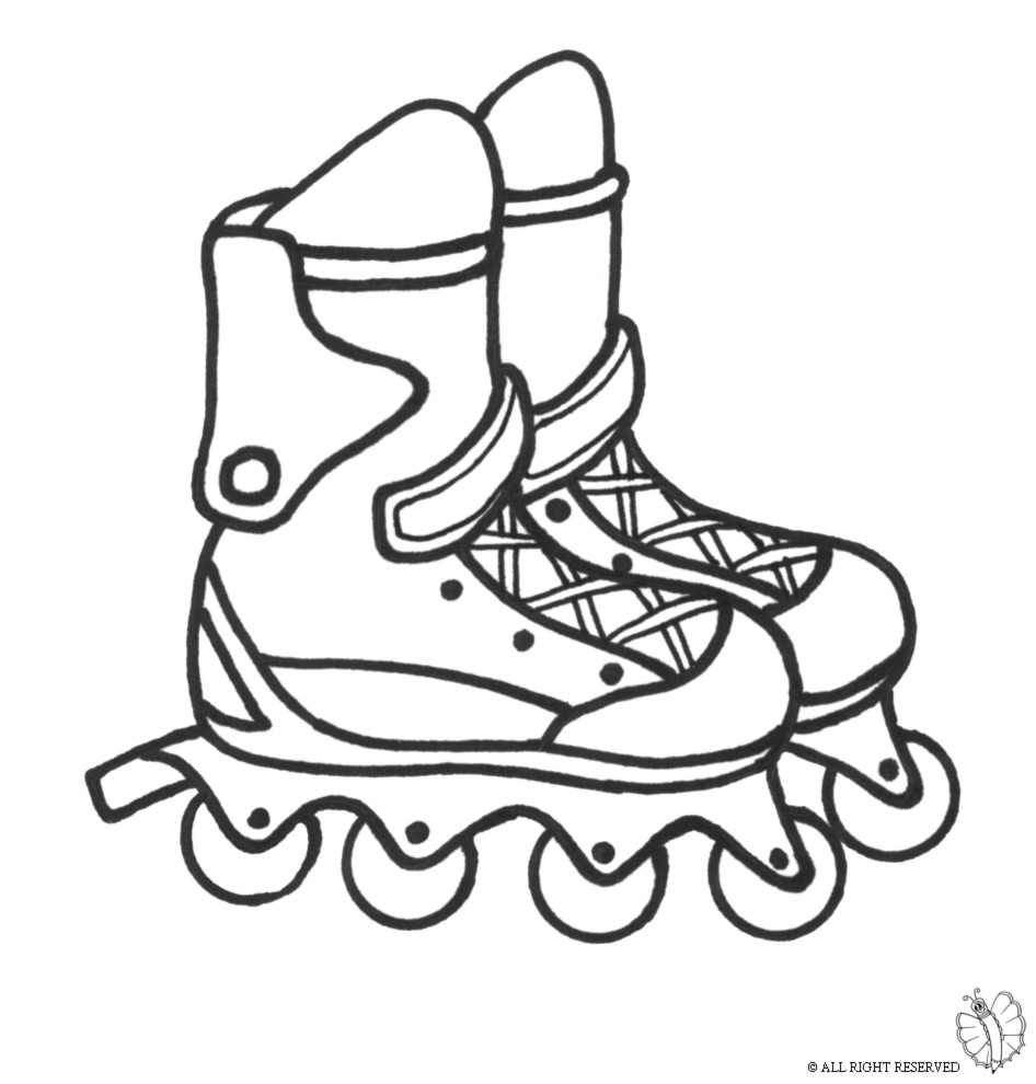 Free Roller Blades Coloring Pages Roller Skate Coloring Page